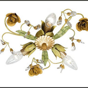 Flowers & Leaves Metal Ceiling Light with Swarovski Elements
