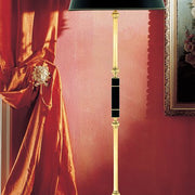 Classic Italian standard lamp with black marble part