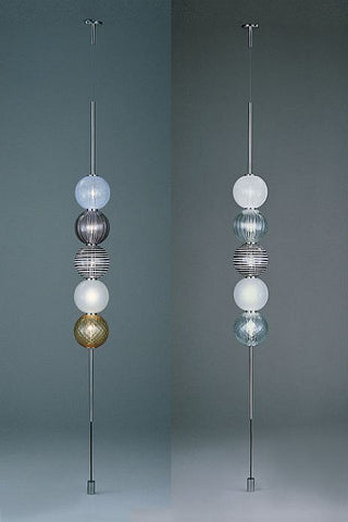 The Abaco Murano glass sphere light from Venini with 5 lights & Abaco suspended ceiling light | Venini Murano glass spheres light ...