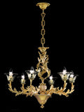 Louis XV Chandelier With Murano Glass Decoration