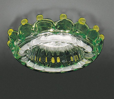 Green & amber Murano glass ceiling light fitting