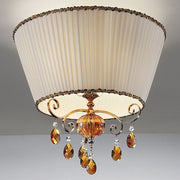 Shaded Amber Ceiling Light