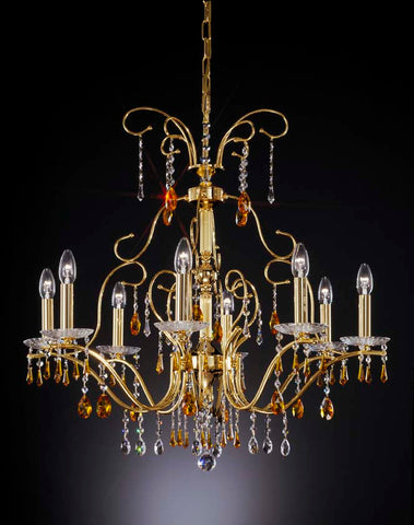 Extravagant Gold and Topaz Chandelier