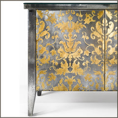 Classic French-style eglomise Venetian mirrored sideboard
