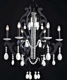 12 Light black and white art nouveau-style chandelier