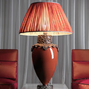 Luxury table lamp in 4 colours with precious metal plating