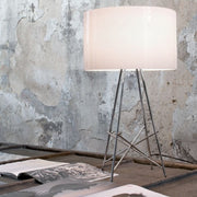 Ray modern steel & polycarbonate or glass table lamp from Flos