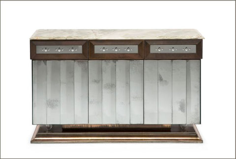 Onyx-topped sideboard with Venetian mirror