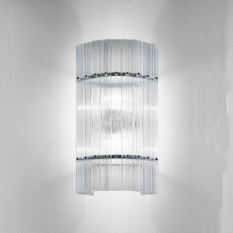 Large Nastri ribbed glass wall light from Venini