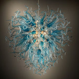 Customizable Chihuly-style art glass chandelier