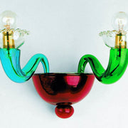 Serenissima multi-coloured Italian glass wall light from Leucos