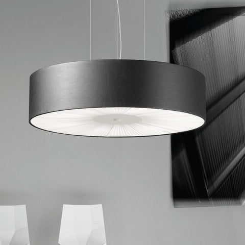 Skin 100 cm faux leather ceiling pendant in 10 colours