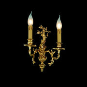 Gold-plated wall candelabra-style sconce