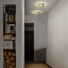 Bugia PL4 flush light in 4 metal finishes