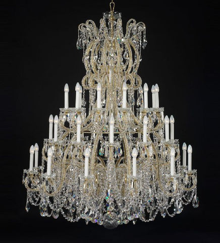 Large 36 light statement crystal chandelier