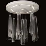 70 cm mid-century Murano glass shard cluster light