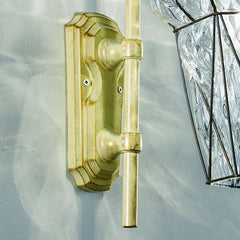 Venetian outdoor wall light with clear crystal diffuser