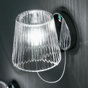 Minimal clear or white Murano glass wall lights