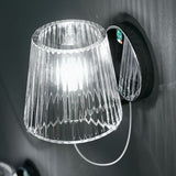 Minimal clear or white Murano glass wall light