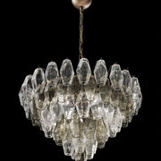65 cm custom smoked glass poliedri  chandelier