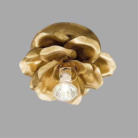Beautiful Gold Metal Flower with Spotlight