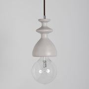 Modern White Oak Finished Chess Queen Suspension Ceiling Light
