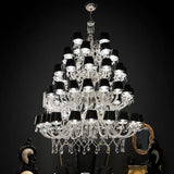 Large lead-crystal chandelier with 28 30 40 60 or 80 lights