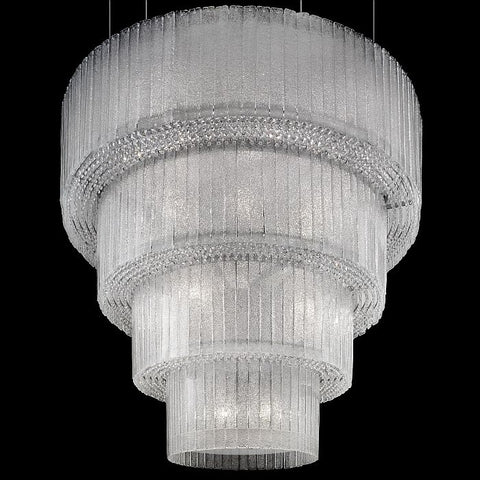 Modern 28 light graniglia glass chandelier from Italy