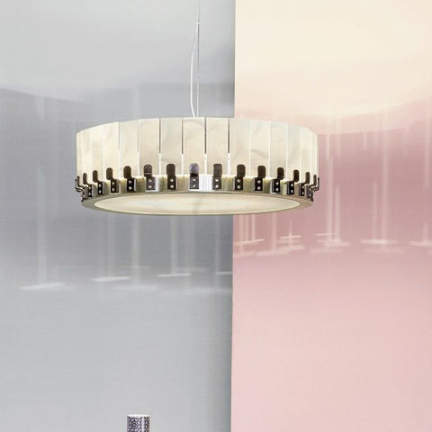 Modern iron & glass crown style chandelier with custom option