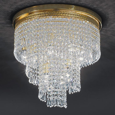 Gold and crystal waterfall chandelier fine italian lead crystal italian lead crystal gold plated waterfall ceiling light aloadofball Gallery