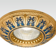 Blue and Gold Recessed Light Fitting