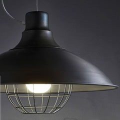 Black white or blue industrial chic ceiling pendant