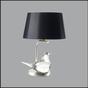 Italian glass bird table lamp