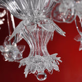 Clear Murano cristallo glass chandelier in 9 sizes