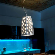 Bespoke Italian ceramic ceiling light with a choice of finishes