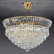 Classic 24% lead crystal suspended ceiling light