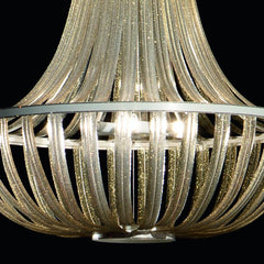 Modern PVC Empire-style chandelier in 6 colours