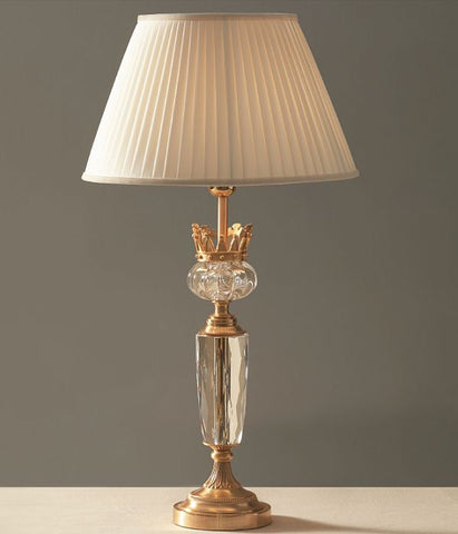 Classic Italian crystal table light with gold-plated coronet