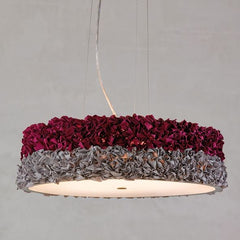 53 cm pendant light with  fabric shade in 6 gorgeous colours
