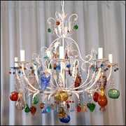 Murano Fruit Chandelier with 8 Arms