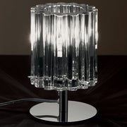 Simple luxurious Murano cristallo glass table lamp