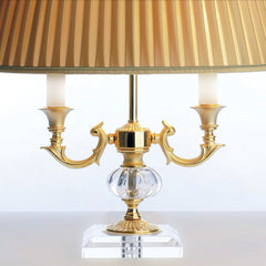 Classic Italian 2 light table lamp with crystal sphere
