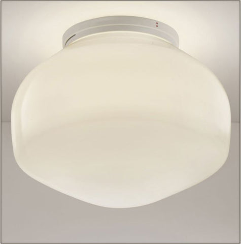 Small Aerostat F27 G01 white glass LED flush light from Fabbian