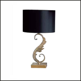Leaf-style table lamp with square base