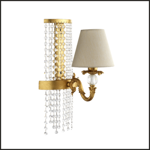 Gold sconce with Swarovski Elements crystals