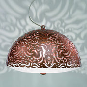 Stylish modern  metal ceiling pendant with cut-out pattern