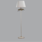 Floor lamp with silver fruit and glass crystals