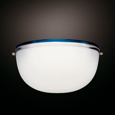 Venini Stillboi Murano glass uplighter with coloured trim