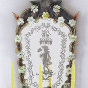 Decorative baroque style Venetian mirror with candle holders