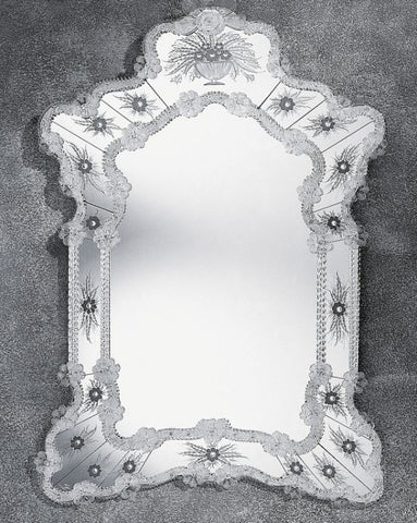 Beautifully Hand-Etched 17th Century Venetian Mirror